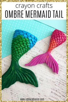 This is one of the best crayon crafts ever! Make your own DIY mermaid crayons with any leftover and broken crayons you might have lying around - it makes a really cute homemade gift. #runtoradiance #crayoncrafts #meltedcrayoncrafts #crayoncraftsforkids #mermaidcraft #mermaidcrayons #mermaidtail #diycrafts Making Crayons, Diy Crayons, Broken Crayons, Mermaid Crafts, Mermaid Diy, Cute Mermaid, Craft Projects For Kids, Fun Crafts For Kids, Preschool Crafts