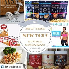 "#Repost @yupbrands with @repostapp.  It's almost the New Year! That means New Years Resolutions and goals to achieve! To help you we've created the ""NEW YEAR NEW YOU!"" Bundle Giveaway! There will be 4 winners who will EACH receive a HUGE bundle of products to help you reach your goals!  Here's what EACH winner will receive:  $25 store credit to Fit Style  1 box of B-up or B-jammin bars of your choice from Yup Brands  $50 store credit to Power Plate Meals  Rev4 workout DVD from Nataliejillfit…"