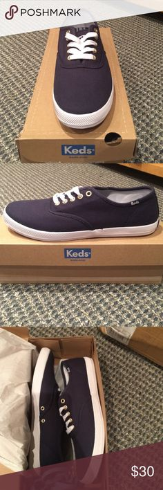 Men's Keds shoes in Navy Super casual comfy shoes to wear on your day off in the city, at the park, or at the beach. Perfect for all occasions! Must have item keds Shoes Sneakers