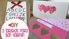 [DIY] 3 Ideas únicas y originales de Tarjetas para San Valentín  Ya es febrero! Yay! El mes del amor!   Es por eso que hoy te tengo 3 increíbles ideas para que hagas unas tarjetas muy originales y se las regales a esa personita especial en tu vida ;)  Son súper fáciles de hacer y lo mejor es que vas a sorprender a ese ser especial!