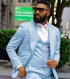 3 Piece Suit Wedding, Wedding Suits, Costumes Slim, Slim Fit Suits, Smoking Jacket, Handsome Black Men, Classic Suit, Linen Suit, Men Formal