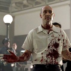 """Kevin Spacey as John Doe in """"Seven""""...IMHO, one of the best movies ever. The biggest fear is that something like this could easily happen."""