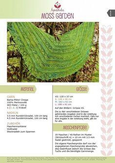 Strickanleitung Tuch Moss Garden - Strickanleitungen bei Makerist
