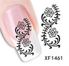1 Packs Pleasantness Popular Hots New Nail Art Sticker Water Transfer Template Tips Fashion Decals Style CodeXF1461 -- Check this awesome product by going to the link at the image.