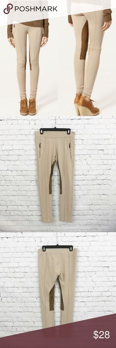 6a81390cd84654 Zara Basic Faux Suede Riding Leggings Tan Camel Excellent condition Zara  Basic riding ankle leggings.