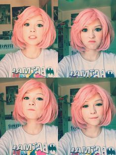 Love her hair! Just the cut...not the color...although it looks adorbs on her | g y a r u - u z z l a n g | Pinterest