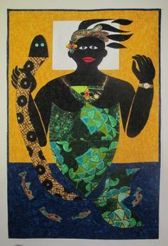 """""""Mami Wata"""" mermaid quilt art by Glenda Richardson"""