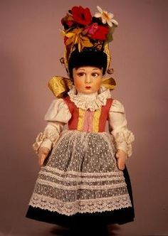 Lucia face  1900-1935 lenci cloth doll culture