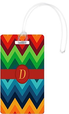 Rikki Knight Letter D Initial On Design Flexi Luggage Tags White >>> Learn more by visiting the image link. Note:It is Affiliate Link to Amazon.