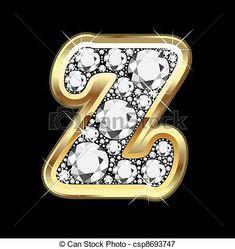 Sparkling Gemstone And Glitter Monogram Letter J