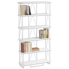 White 6 Shelf Bookshelf Assembles In Minutes
