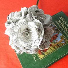 6 x Alice In Wonderland Book Page Paper Flower by WearedCrafts
