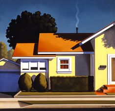 Architectural — Kenton Nelson .... looks so much like the houses seen in the 50's and 60's..... love how neat and loved they were....
