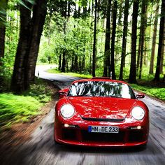 Just a quiet afternoon racing through a German forest in a 700-horsepower Ruf CTR3...doesn't get much better. - Photo by caranddrivermag