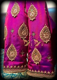 Whatsapp on 9496803123 to customise handwork sarees dresses bridal sarees blouses lehenga gowns etc Wedding Saree Blouse Designs, Pattu Saree Blouse Designs, Blouse Designs Silk, Designer Blouse Patterns, Simple Blouse Designs, Stylish Blouse Design, Maggam Work Designs, Work Blouse, Hand Embroidery