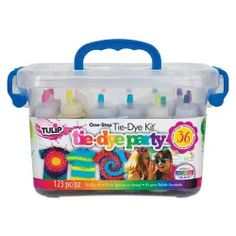 Plastic Storage Tubs, Tulip Tie Dye, Tie Dye Party, Bubble Machine, Tie Dye Crafts, One Step, Color Kit, Tie Dye Shirts, Party Kit