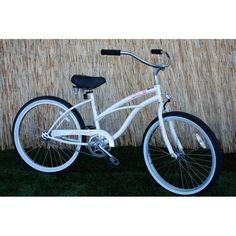 "Micargi Pantera 24"" Women's Beach Cruiser Bike White"