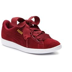 Puma Vikky Ribbon Sneaker - Women's Women's Shoes | DSW ($60) ❤ liked on Polyvore featuring shoes, sneakers and ribbon shoes