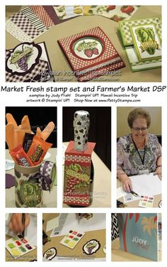 Stampin' Up! market fresh and farmer's market stamps and paper - demo from 2015 Hawaiian Incentive Trip