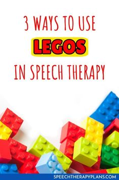 Three ways that I use Legos to create engaging speech and language activities!