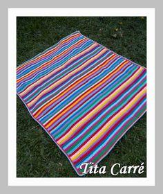 Colcha Multicolorida em lã