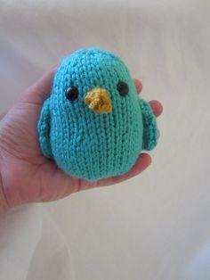 Hand knit plush bird. $5.00, via Etsy.