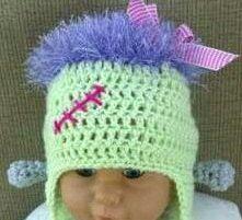 PDF Frankensteins Monster Hat for Babies Crochet by Shelleden, $3.50