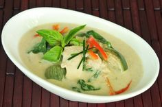 Green Curry with Eggplant & Chicken.