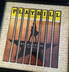 Hamilton the Musical This piece features the entire Playbill cover from the Broadway production of Hamilton at the Richard Rogers Theatre.