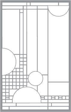 Frank Lloyd Wright style stencils