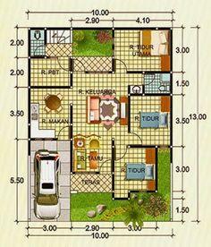 Denah Rumah Minimalis 2 Lantai Type 90