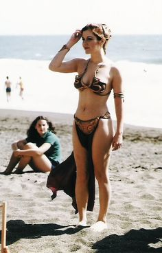 Carrie Fisher on the set of Star Wars- Episode VI - Return of the Jedi