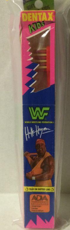 (GBS04733) - WWF WWE WCW nWo Wrestling Dentax Kids Toothbrush - Hulk Hogan