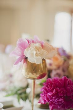 Peony in Tall Votive Flower Centerpieces, Wedding Centerpieces, Wedding Bouquets, Wedding Decorations, Centrepieces, Spring Wedding, Wedding Blog, Wedding Events, Wedding Ideas