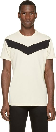 Diesel Cream & Black T-Mayurino T-Shirt
