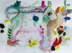 Pfingstochse, Aquarell aus dem Jahr 2012 von Jens Kunik