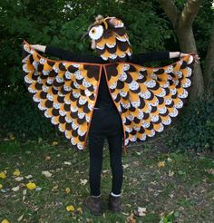 Diy owl costume fabric glue halloween costumes and owl diy owl costume with wing tutorial solutioingenieria Images