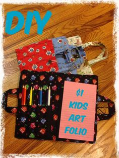 DIY kids art folio