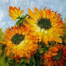 Modern Abstract Hand-painted Oil Painting Sunflower NO Frame  YH2221001