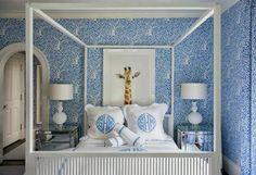 Liz Caan Bedroom with Arbre de Matisse Wallpaper