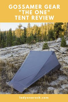 Gossamer Gear THE ONE is an ultralight, fully enclosed, 3 season single wall tent. The One is easily setup with two trekking poles or tent poles.