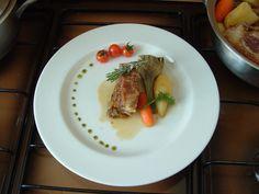 Pointe  de  poitrine de veau  braisè ,quelques  legumes. Gino D'Aquino