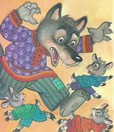 vsk7 Big Bad Wolf, Conte, Coloring Pages For Kids, Preschool Activities, Teaching Kids, Winnie The Pooh, Storytelling, Fairy Tales, Illustration Art