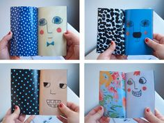 Make a book of facial emotions!