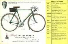 My bicycle, a Raleigh Lenton Sport