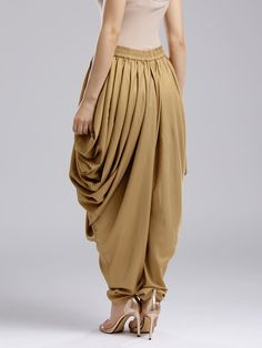 Buy W Golden Dhoti Pants - Dhotis for Women 2708395 Kids Blouse Designs, Sari Blouse Designs, Salwar Designs, Kurti Designs Party Wear, Dhoti Salwar Suits, Salwar Pants, Patiala, Churidar, Fashion Pants