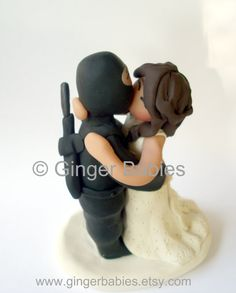 Ninja Kiss Custom Wedding Cake Topper by gingerbabies on Etsy, $75.00