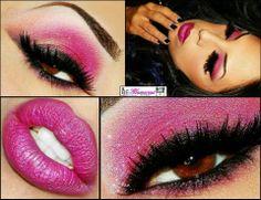 Glittery pink look