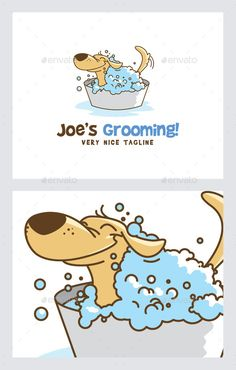 Pet/Dog Grooming  Logo Design Template Vector #logotype Download it here: http://graphicriver.net/item/petdog-grooming-logo/11945648?s_rank=1460?ref=nexion