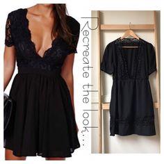 Size 12: V-neck little black dress SOLD